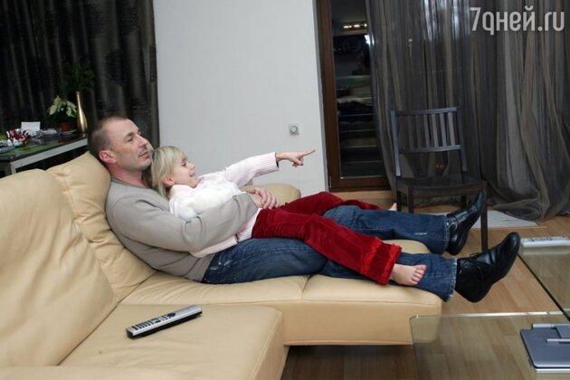Александр Жулин с дочерью Сашей