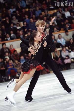 Александр Жулин со своей первой партнершей и женой Майей Усовой. 1985 г.