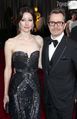 Гэри Олдман с женой Александрой