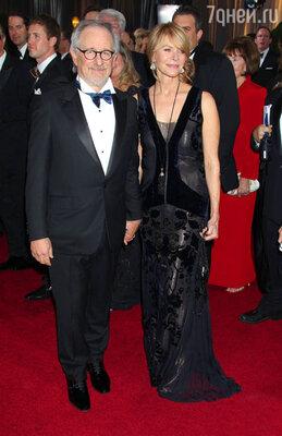 Стивен Спилберг с женой Кейт Кепшоу