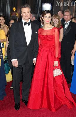 Колин Ферт с супругой Ливией