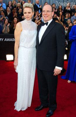 Князь Монако Альбер с супругой Шарлен