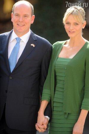 Князь Монако Альбер II и Шарлен Уиттсток