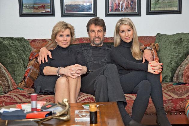 Леонид Ярмольник с женой Оксаной и дочкой Александрой