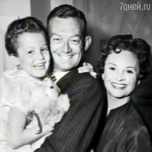 Сигурни Уивер с родителями. 1954 г.