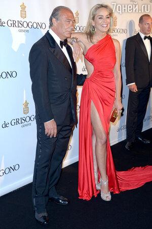 Шэрон Стоун на приеме ювелирного Дома De Grisogono,  2013 год