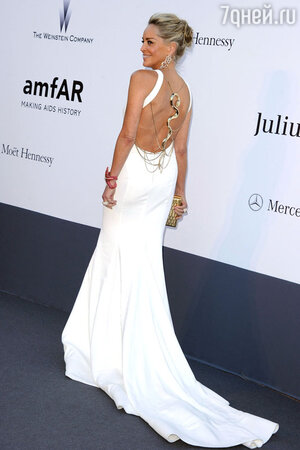 Шэрон Стоун на amfAR Cinema Against AIDS Gala, 2013 год