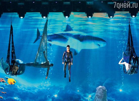 Ани Лорак с помощью спецэффектов покорились океанские глубины
