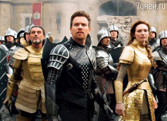 В картине «Джек — покоритель великанов» Юэну Макгрегору снова досталась роль рыцаря — защитника Принцессы