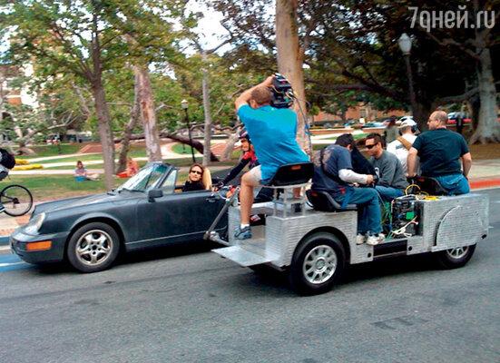 На съемках сериала «Калифрения». Лос-Анджелес, 2009 г.