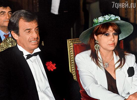 С первой женой Элоди Константен. 1986 г.