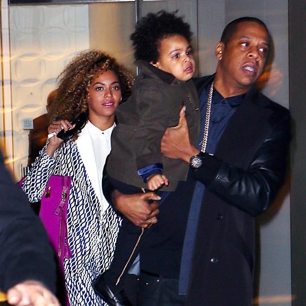 Бейонсе с мужем Jay-Z и дочерью Блю Айви