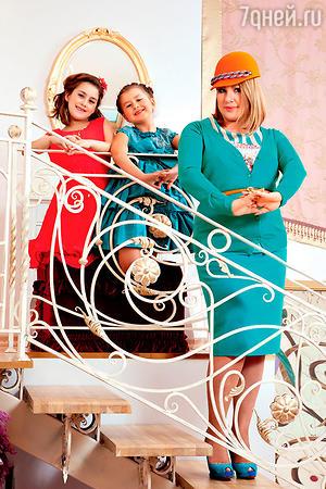 Ева Польна с дочерьми Амалией и Эвелин