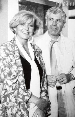 Со вторым мужем — чехом Индржихом Гецем. 1984 г.