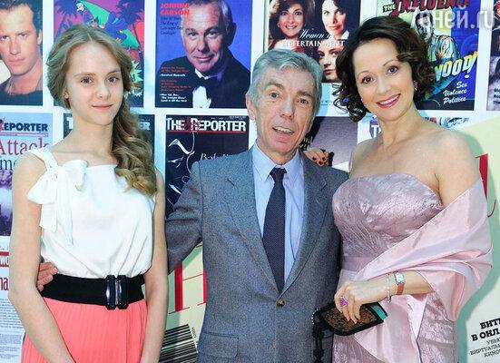 Ольга Кабо с дочерью Татьяной и Юрием Николаевым