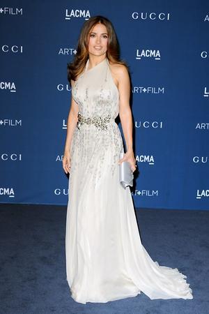 Сальма Хайек в платье от Gucci, LACMA 2013