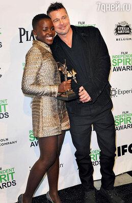Брэду Питту недавно приписали роман с Люпитой Нионго — актрисой из его фильма «12 лет рабства»