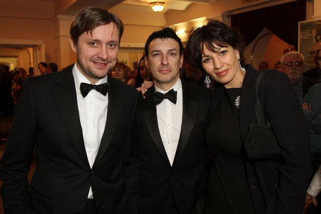 Артем Михалков, программный директор Фестиваля Станислав Тыркин и продюсер Фестиваля Полина Зуева