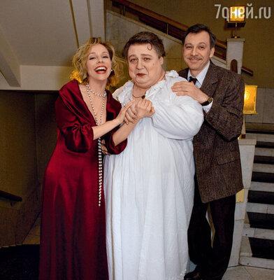 Александр Семчев с партнерами по спектаклю «Событие» Мариной Зудиной и Сергеем Чонишвили