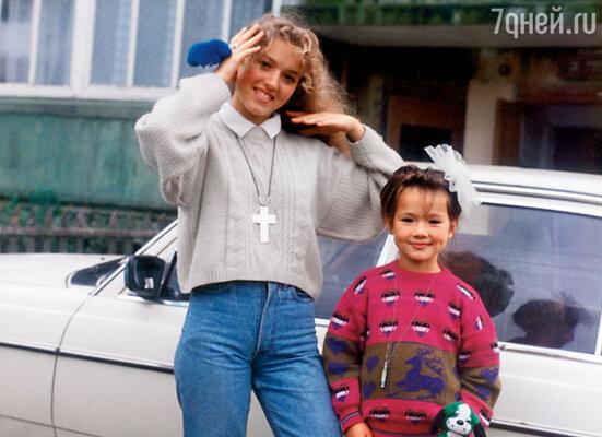 Я с младшей сестрой Идой