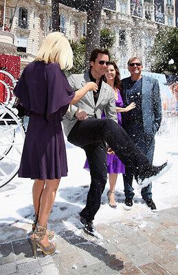 Джим Кэрри на вечеринке мультфильма «Рождественская история»