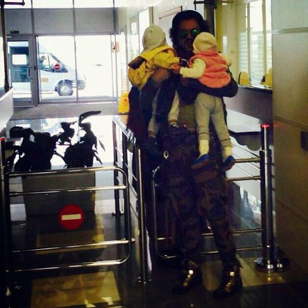 Филипп Киркоров с дочерью Аллой-Викторией и сыном Мартином-Кристином