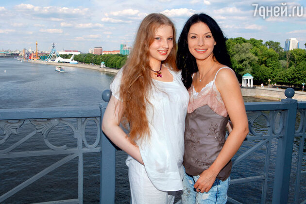 Ирина Лачина с дочерью