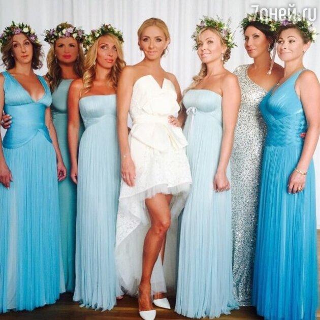 Татьяна Навка с подружками невесты