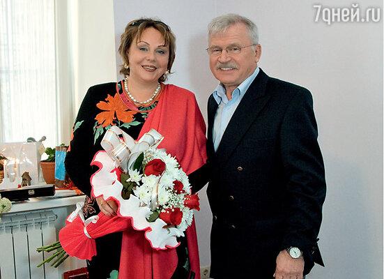 Сергей Петрович с женой, актрисой Екатериной Ворониной