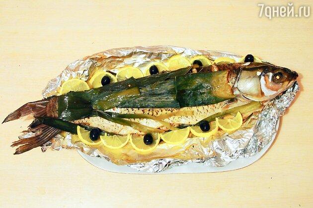 Рыба белый амур, приготовленная в духовке