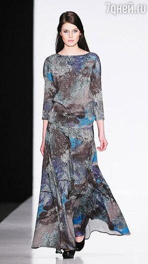 Модель показа Biryukov в рамках Mercedes-Benz Fashion Week