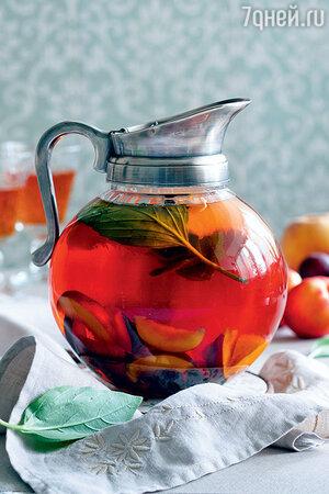 Чай с фруктами и базиликом