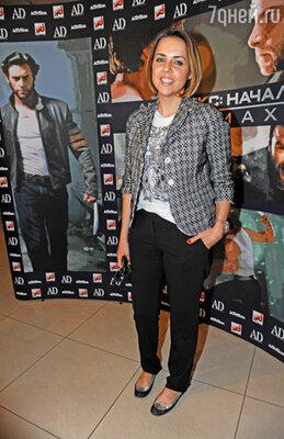 Ольга Шелест на премьере фильма «Люди Икс: Начало. Росомаха»