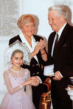 Настя Меськова с Борисом Ельциным