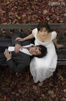 Мэттью Макфейден и Кира Найтли в экранизации романа «Гордость и предубеждение» 2005 года