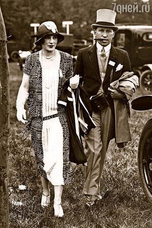 Сын Альмины Ротшильд Генри с женой леди Анной, 1924 год.