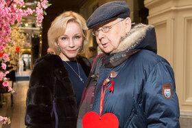 Как прошел День святого Валентина у Олега Табакова и Марины Зудиной