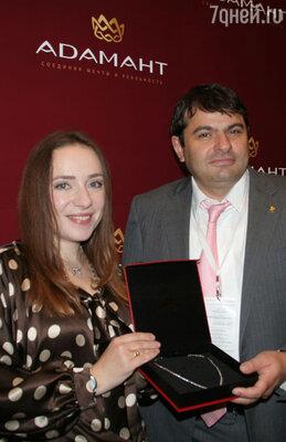 Тутта Ларсен и генеральный директор ювелирного завода «Адамант» Сергей Авакян