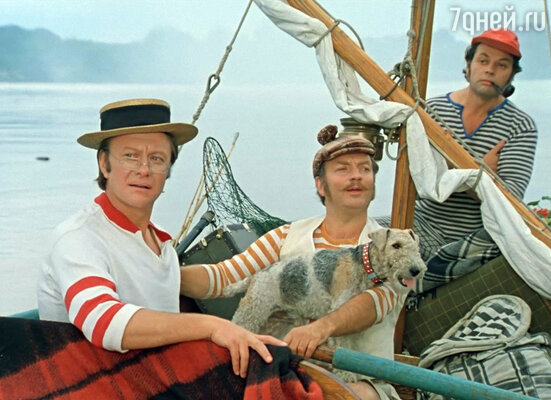 Кадр из фильма «Трое в лодке, не считая собаки». 1979 г.