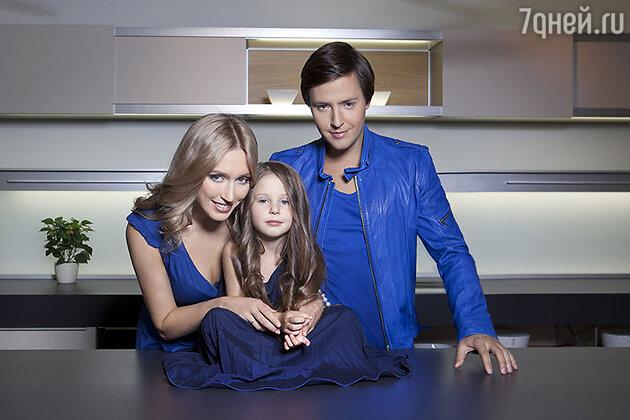 Витас с женой Светланой и дочерью Аллой