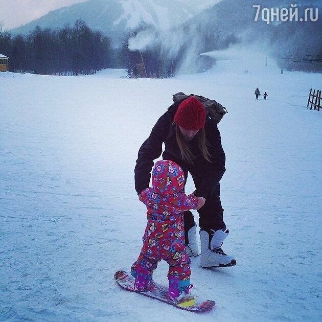 Алексей Тишкин с дочерью Музой