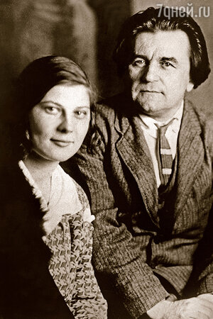 Казимир Малевич с женой Натальей