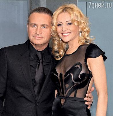 Певица с мужем Леонидом Агутиным