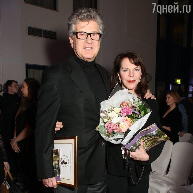 Игорь Костолевский с женой Консуэло