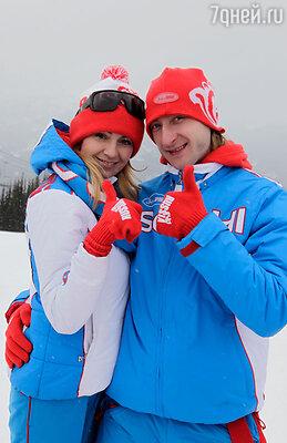 7 февраля состоится открытие XXII  зимних Олимпийских игр 2014. (На фото: Яна Рудковская и Евгений Плющенко)