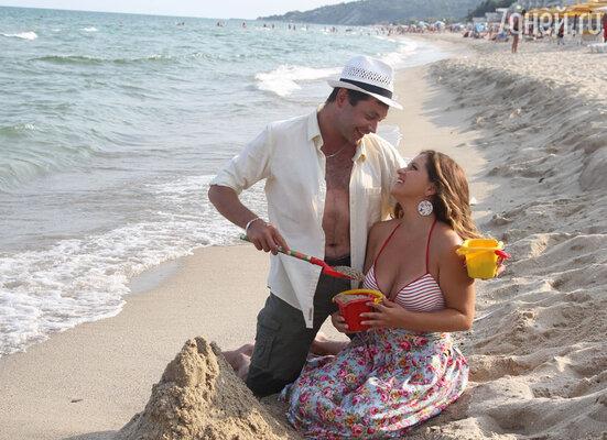 Михаил Дорожкин и Анастасия Денисова объявили во время фестиваля о своей помолвке