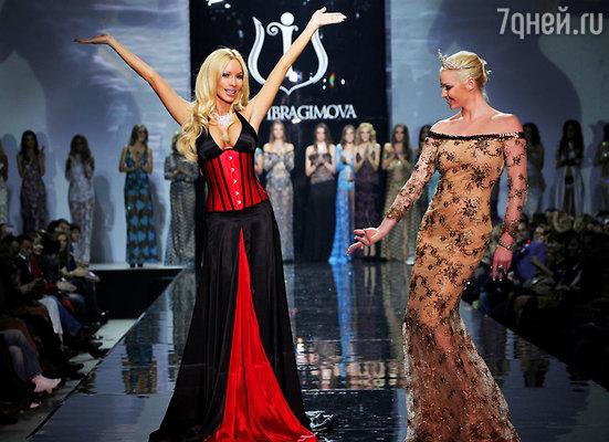 Анастасия Волочкова стала самой яркой звездой показа коллекции Ольги Ибрагимовой