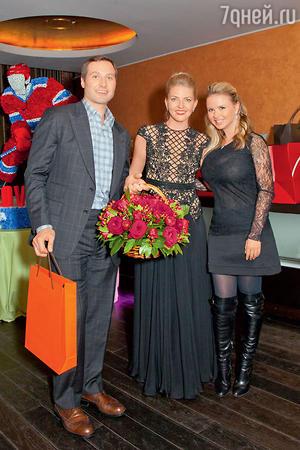 Анна Семенович с Алексеем и Ириной Морозовыми