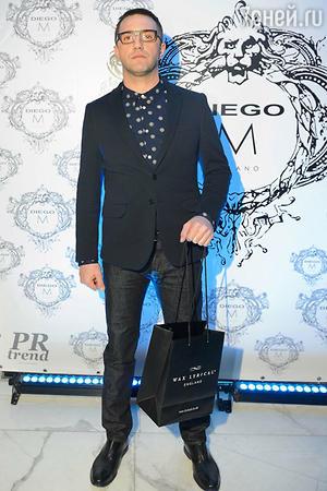 Владимир Вдовиченков на показе модной коллекции «DIEGO M»
