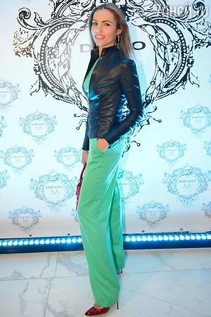 Екатерина Дробыш на показе модной коллекции «DIEGO M»